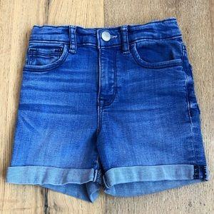 Girls GapKids Denim High Waist Shorts